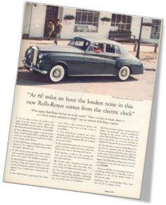 David Ogilvy's Rolls Royce Ad